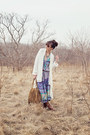 Light-purple-relaxed-maxi-spell-designs-dress-white-loose-uo-sweater