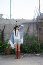 Army-green-fedora-anthropologie-hat-heather-gray-kimono-self-made-jacket