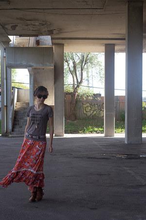 carrot orange maxi skirt Spell Designs skirt