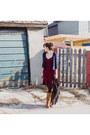 Crimson-polka-dot-asos-dress-navy-classic-smart-set-cardigan