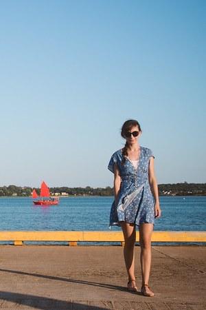 sky blue wrap dress Skye Sutu dress