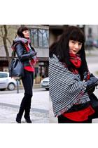 black next boots - black Zara jacket