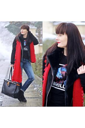 navy hollister jeans - black H&M jacket