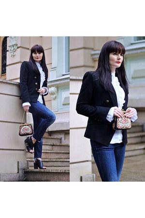 black Mango jacket - white Gant shirt