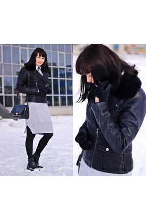black Stradivarius boots - black Steve Madden jacket