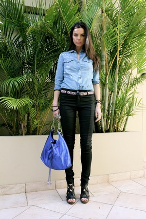 Tsumori Chisato belt - country rd jeans - Zara shirt - bag - heels