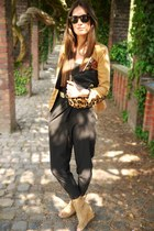boutique belgique blazer - asos bag - weekday jumper - jefferey campbell wedges