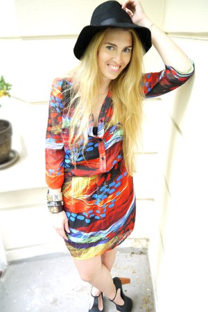 vintage hat - Sugarlips Apparel dress - vintage vest - Jeffrey Campbell heels