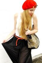 H&M hat - see U soon bag - H&M skirt