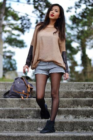 Bershka top - Zara shorts