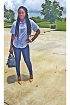 Kloset Kharma purse - Levis jeans - cotton Lands End shirt - Kloset Kharma pumps