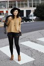 Bronze-h-m-sweater-black-mink-pink-shorts