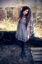 heather gray MINE dress - charcoal gray Forever 21 sweater