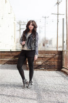 charcoal gray Jeffrey Campbell boots