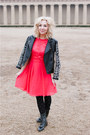 red Little Mistress dress - black Forever 21 jacket