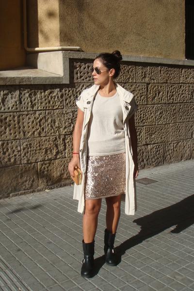 Topshop boots - Zara coat
