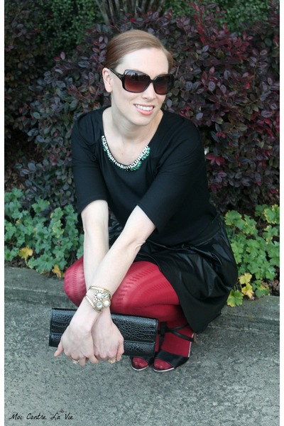 Zara top - DKNY tights - Michael Michael Kors bag - The Limited heels