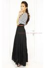 White-zara-top-black-zara-skirt-brown-zara-belt-black-charles-keith-shoe