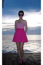 Pink-topshop-dress-pink-shoes-must-buy-shoes-green-topshop-swimwear