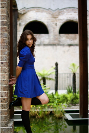 blue En Rose dress - black Wittner shoes