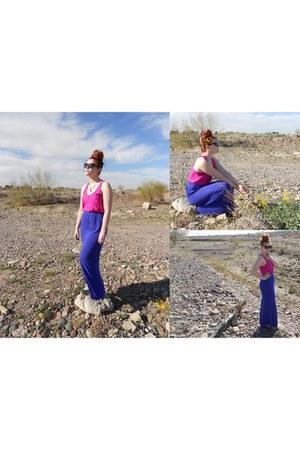 maxi mermaid Target skirt - hot pink bright Forever 21 shirt
