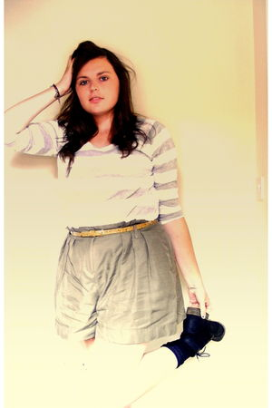 Zara top - River Island shorts - vintage belt - Primark boots