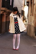 navy BLANCO dress - neutral H&M coat - white Calzedonia tights - white Bimba & L