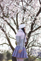 hot pink BLANCO shoes - white Accessorize hat - silver calvin klein sweater - wh