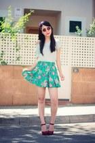turquoise blue Kiabi skirt