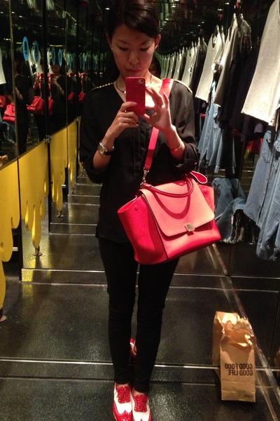 red celine handbag