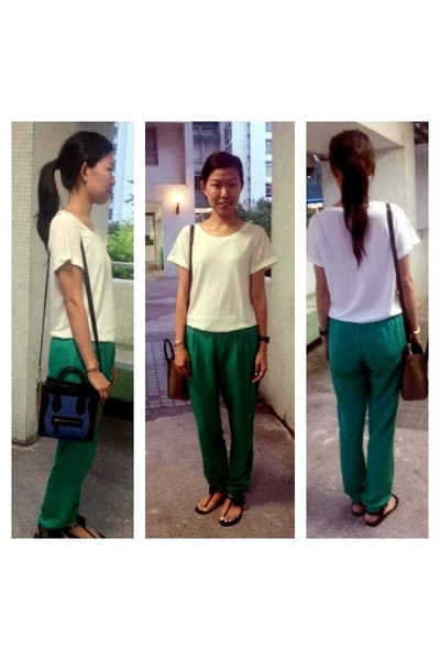 Green Topshop Pants, Blue Mini Luggage Celine Bags | \u0026quot;green ...