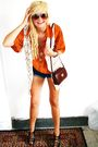 Orange-vintage-shirt-blue-vintage-shorts-white-vintage-vest-black-new-look