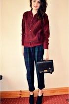 vintage pants - vintage cardigan