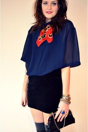 vintage shirt - vintage skirt