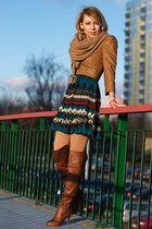 bronze overknee Zara boots