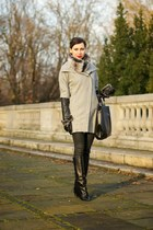 black with fringes Mango boots - heather gray romwe coat