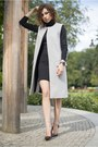 Black-turtleneck-atmosphere-dress-heather-gray-long-zara-vest