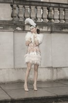 pink sequined River Island dress - beige so kate Christian Louboutin heels