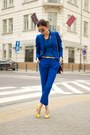 Blue-zara-suit-yellow-aldo-heels