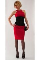 corset Vedette bodysuit - pencil Zara dress - sparkle Zara heels
