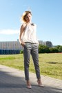 Ivory-transparent-shirt-silver-creased-zara-pants