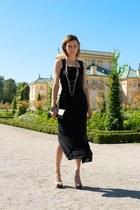 black long Vero Moda dress - beige Aldo heels