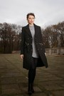 Black-studded-zara-boots-black-mango-coat-silver-zara-sweater