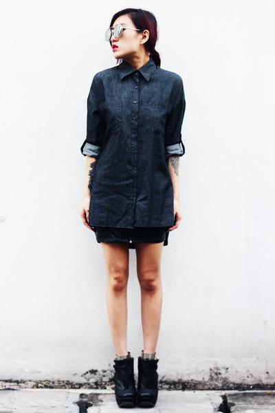 no brand shirt - Irregular Choice shoes - no brand sunglasses - H&M skirt
