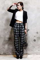 TheScarletRoom blazer - Alexander Wang bag - Frontrowshop pants - Topshop top
