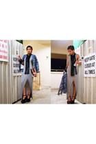 H&M dress - H&M blazer - Stylenanda bag - Jeffrey Campbell heels - H&M necklace