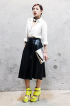 Uniqlo shirt - Stylenanda bag - no brand skirt - Zara necklace