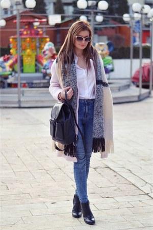 Zara shirt - H&M scarf