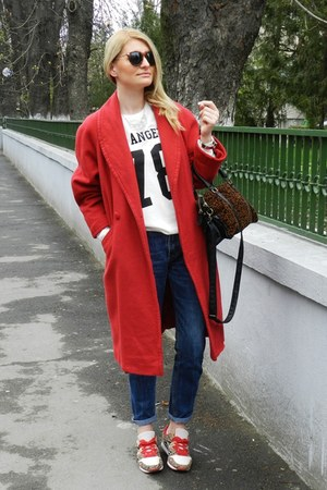 Ralph Lauren jeans - Pimkie sweater - pull&bear bag - BSK sneakers