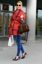 tartan H&M scarf - Zara heels